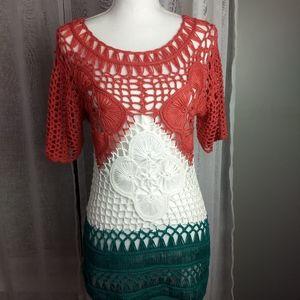 Kaktus sweater, Boho ,Knit